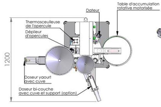 Conditionneuse yaourt doseuse thermoscelleuse RMD Eco