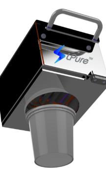 PACKINOV - LPURE avec logo - Solution de décontamination lumière pulsée compacte
